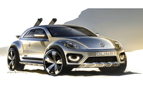 VW Beetle Dune exterior teased