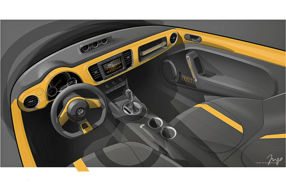 VW Beetle Dune interior teased