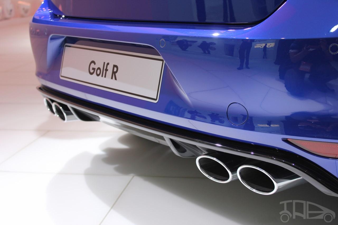 VW Golf R exhaust at NAIAS 2014