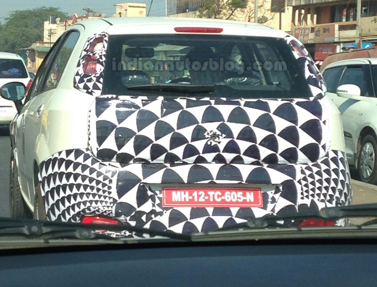 2014 Fiat Punto Facelift India spied IAB rear