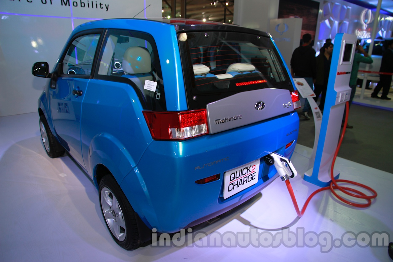 2014 Mahindra e2o rear three quarters left
