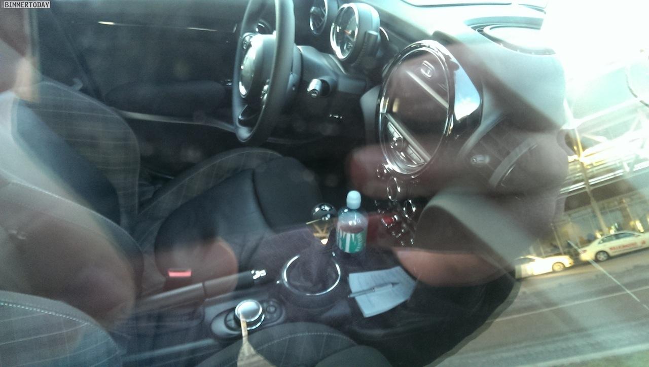 2014 Mini 5-door spied Germany interior