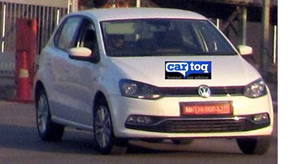 2014 VW Polo facelift India caught front