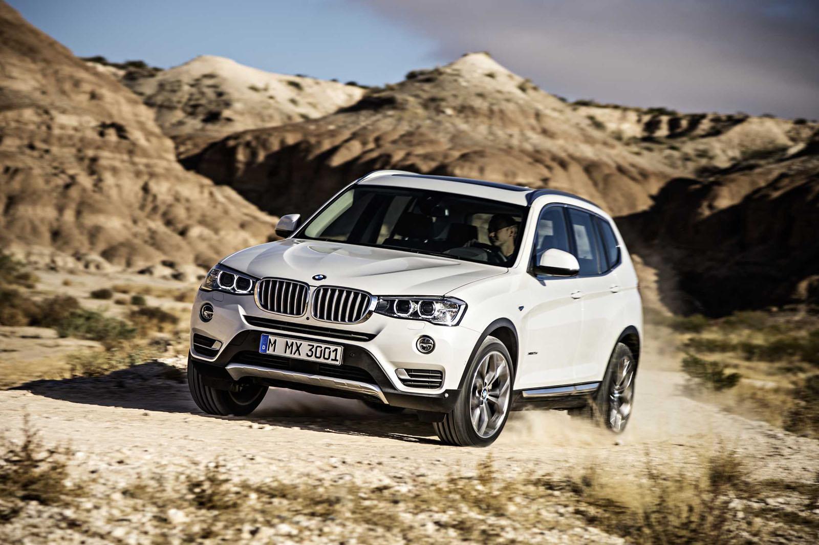 2015 BMW X3 facelift press shot front quarter