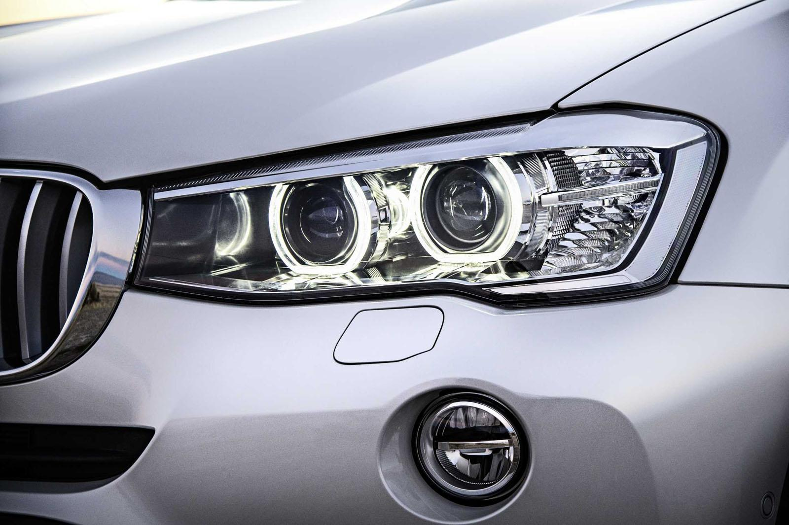 2015 BMW X3 facelift press shot headlight