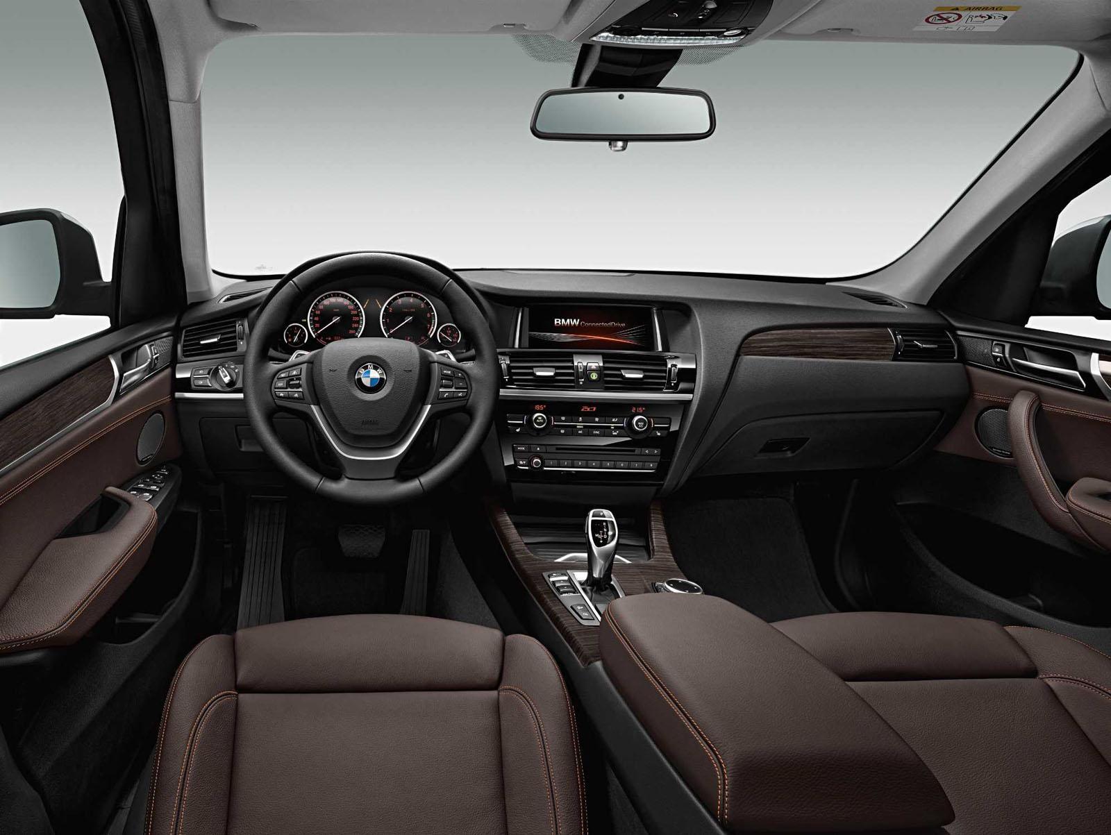 2015 BMW X3 facelift press shot interior