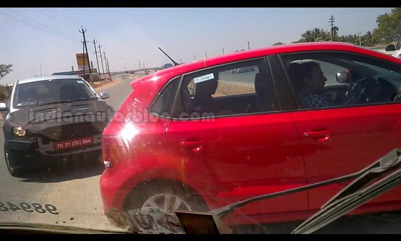 2015 Hyundai i20 IAB spied with Polo