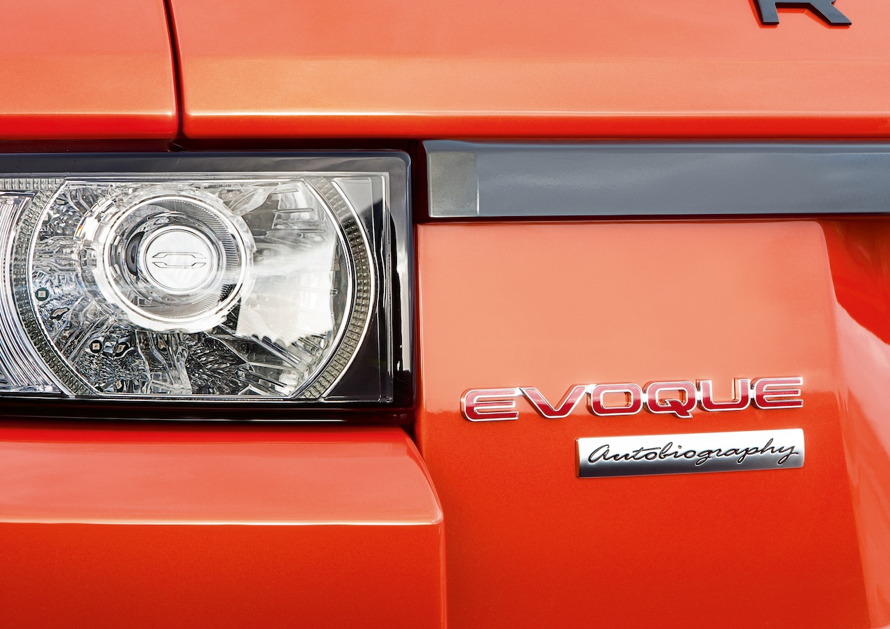 2015 Range Rover Evoque Autobiography Dynamic Press Shot badge