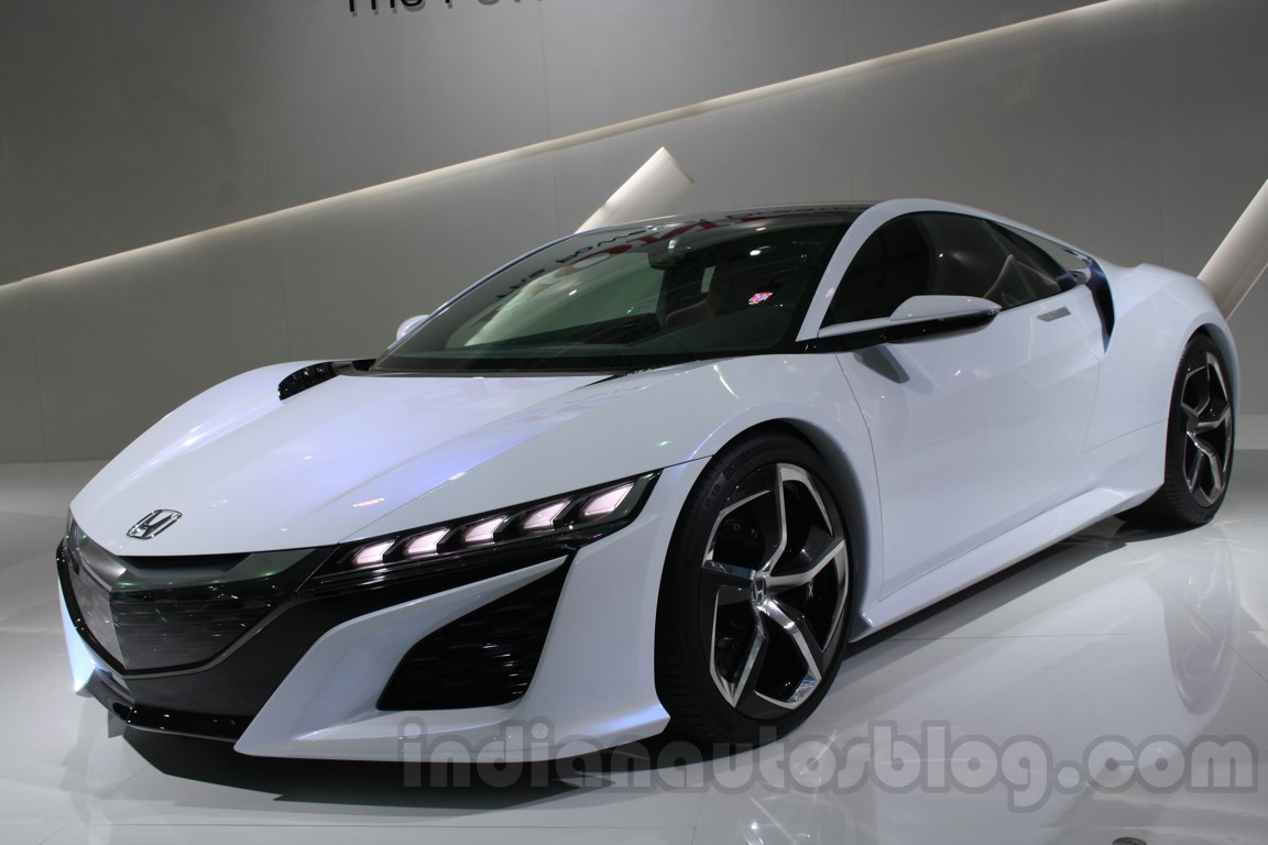 Acura NSX Concept front three quarters at Auto Expo 2014