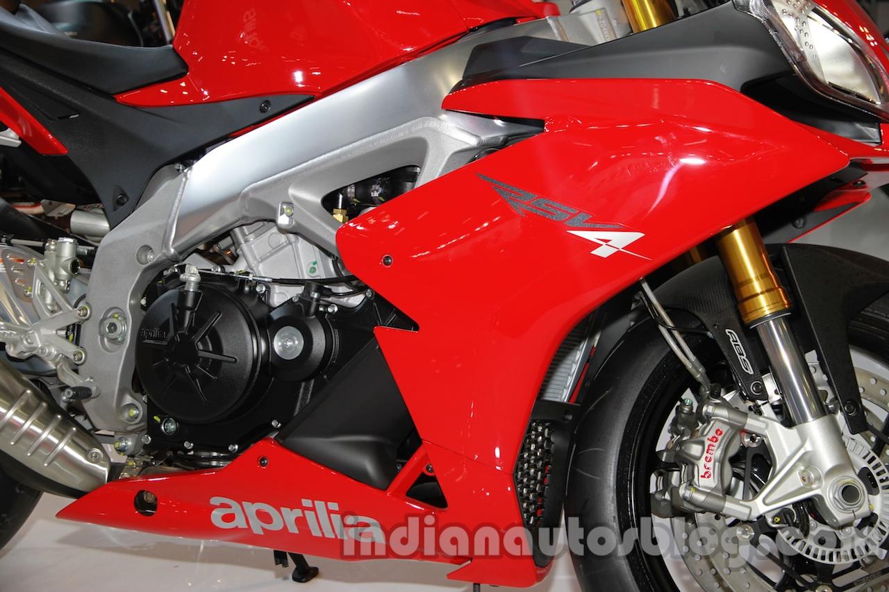 Aprilia RSV4 R ABS engine cowl at Auto Expo 2014