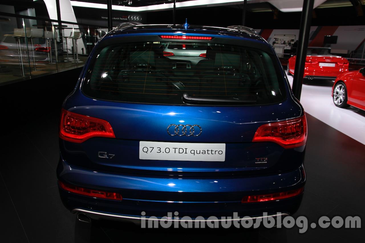 Audi Q7 special edition Auto Expo rear