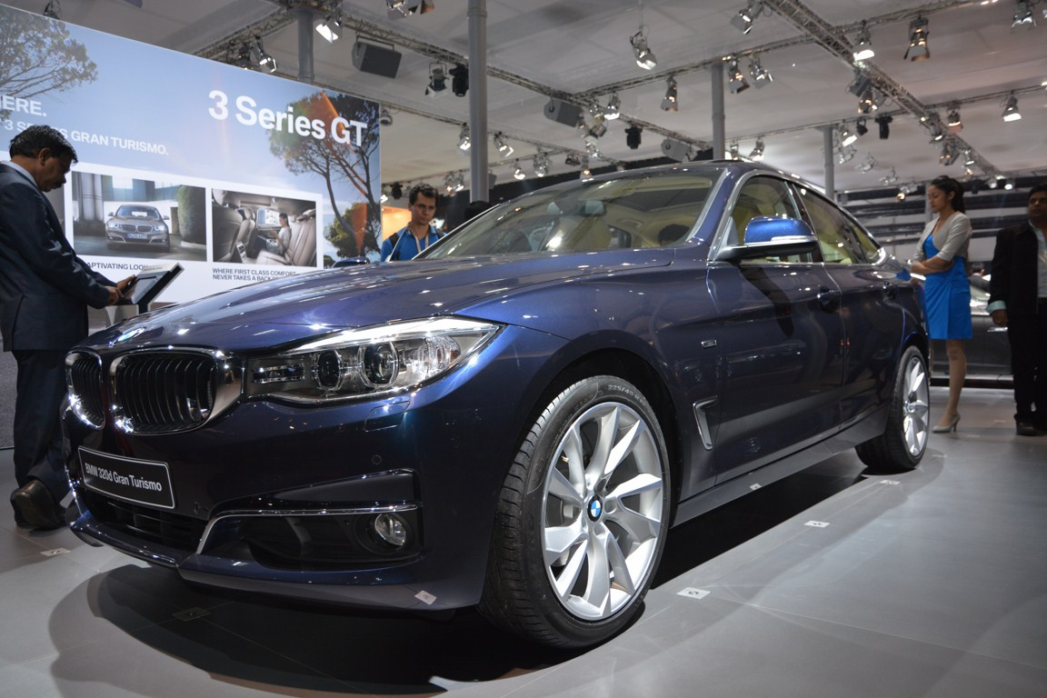 BMW 3 Series GT front three quarters from Auto Expo 2014