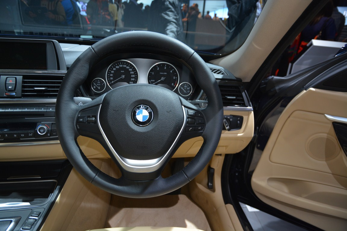 BMW 3 Series GT steering wheel from Auto Expo 2014