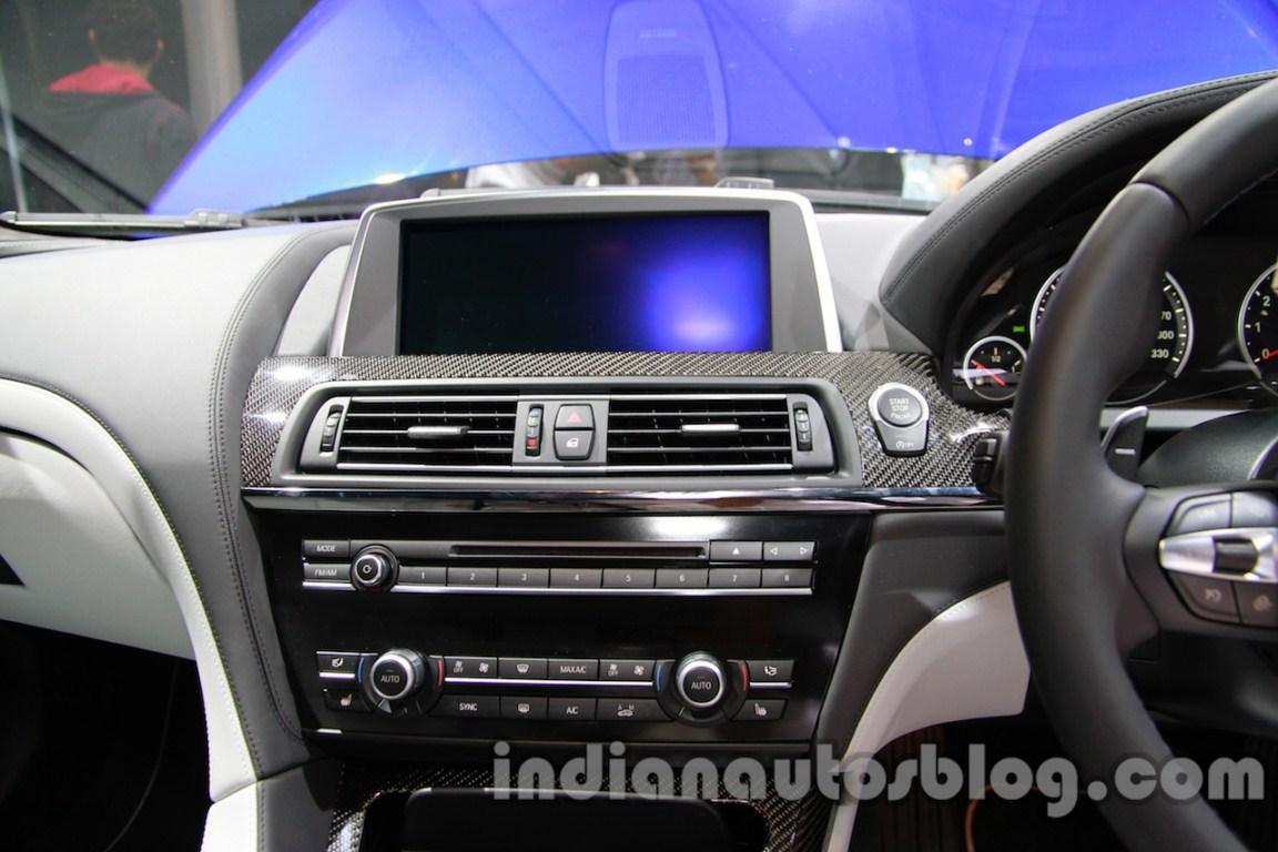 BMW M6 Gran Coupe entertainment unit live