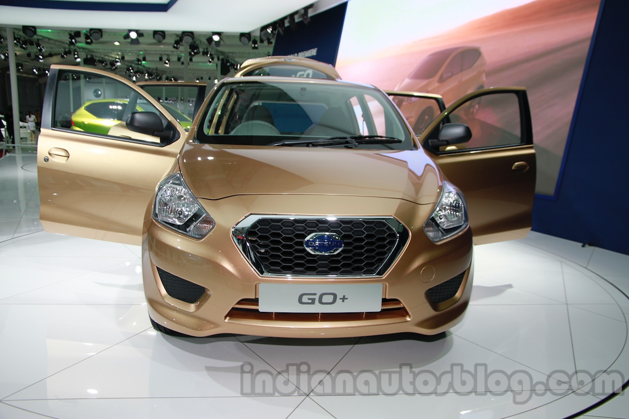 Datsun Go+ front at Auto Expo 2014
