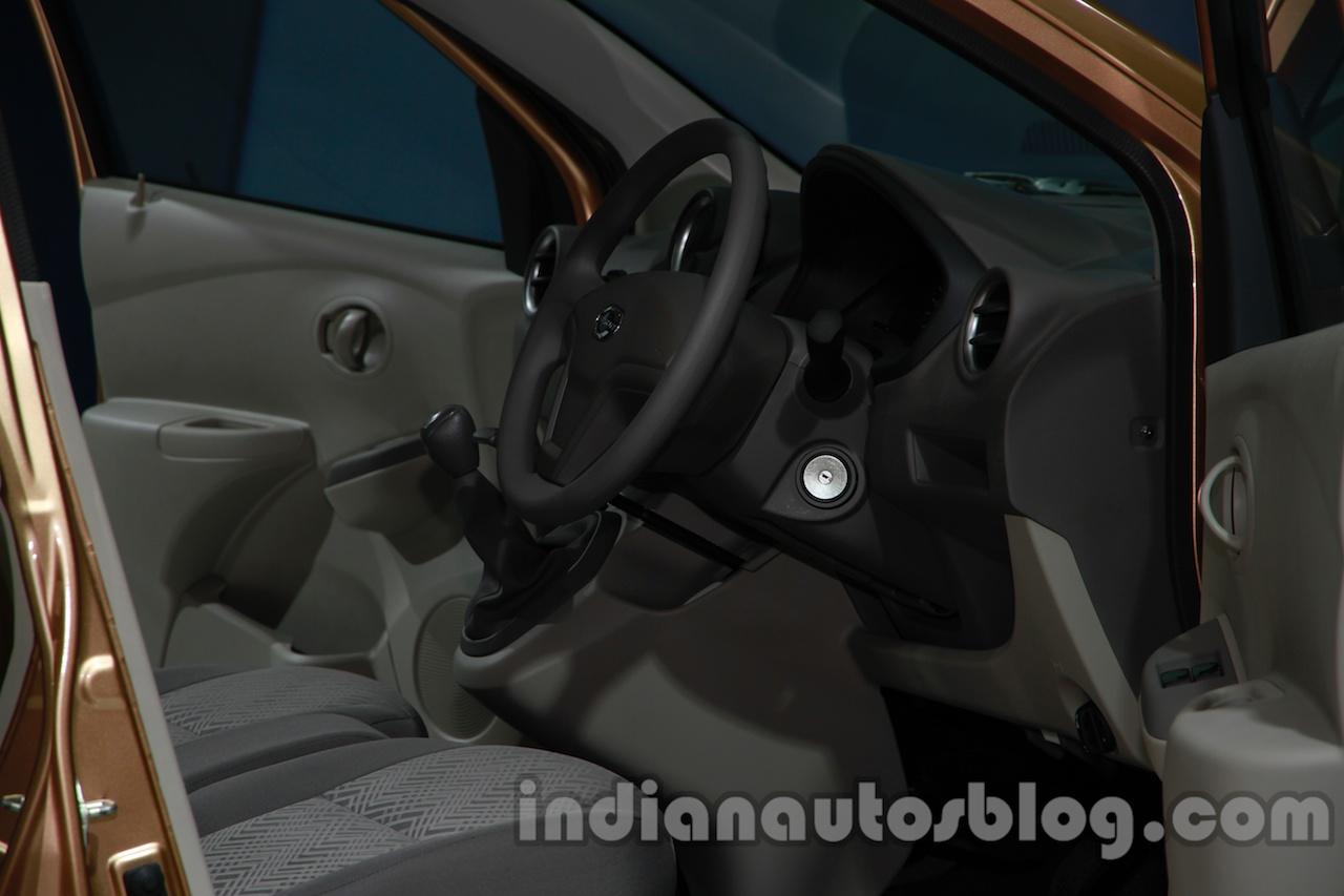 Datsun Go+ interior at Auto Expo 2014