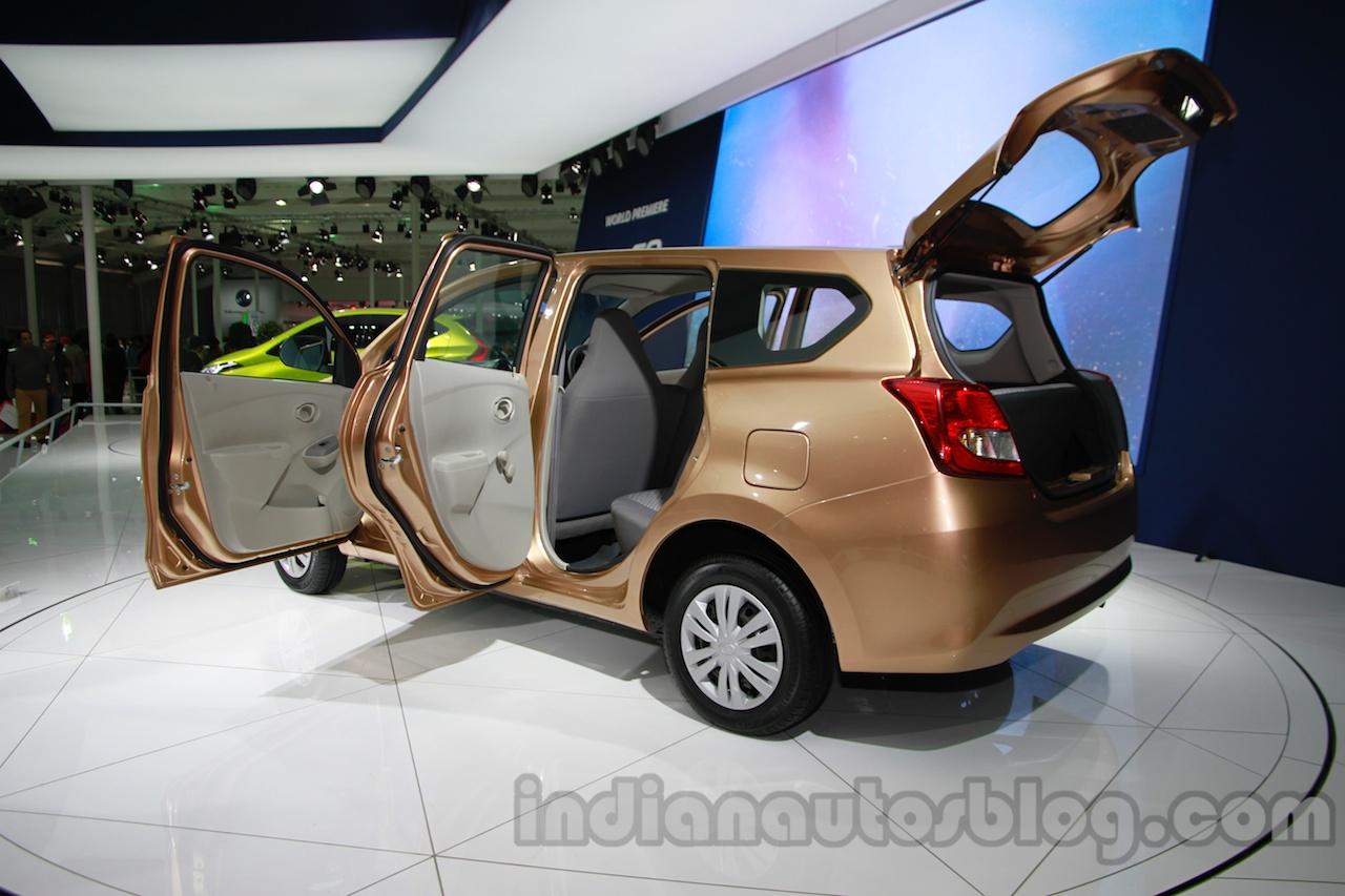 Datsun Go+ rear three quarters at Auto Expo 2014