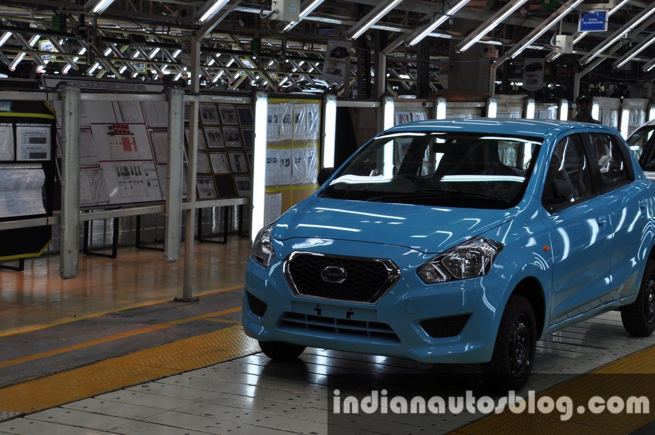 Datsun Go roll out from Oragadam plant in Chennai
