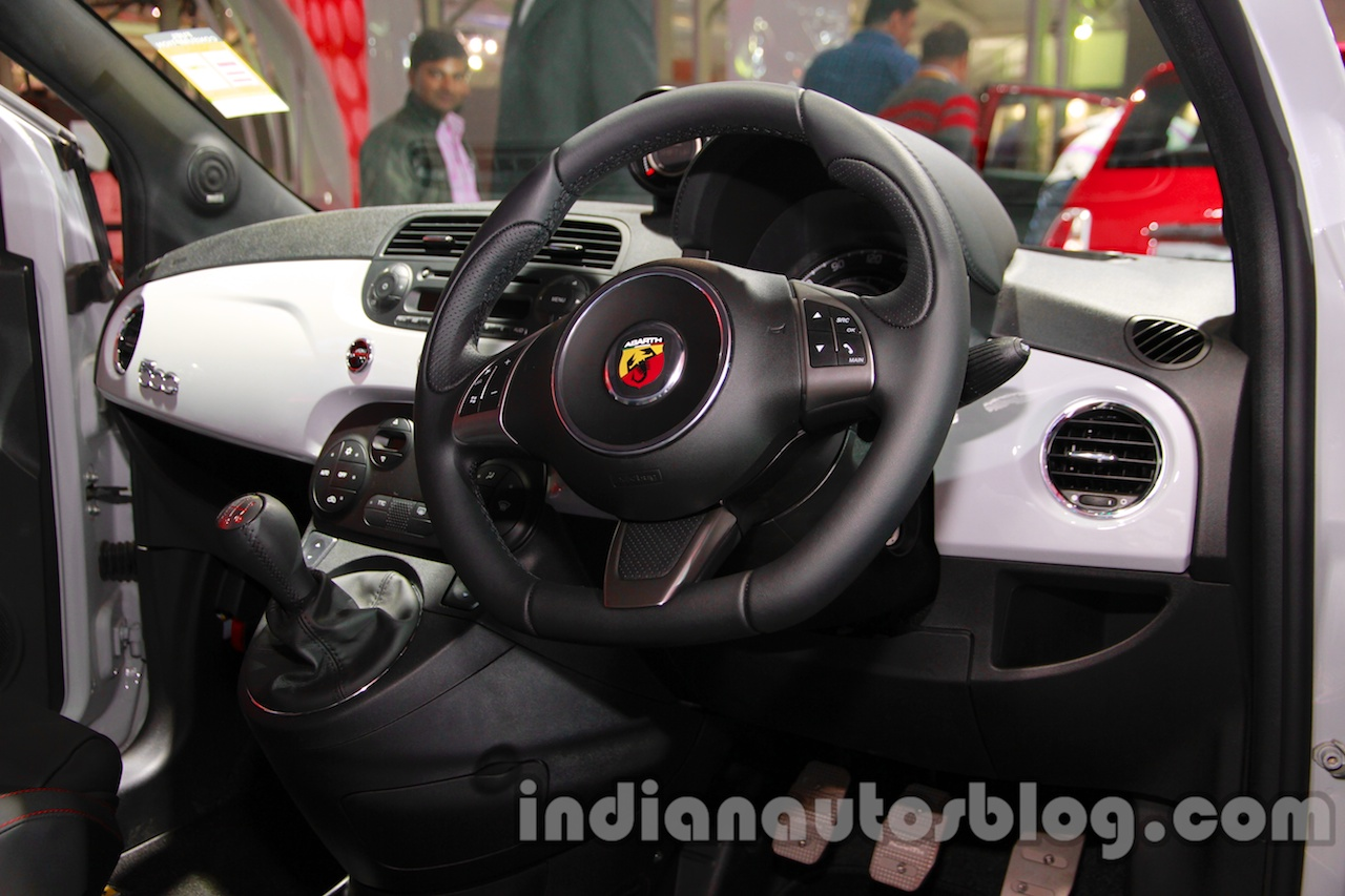 Fiat 500 Abarth cockpit at Auto Expo 2014