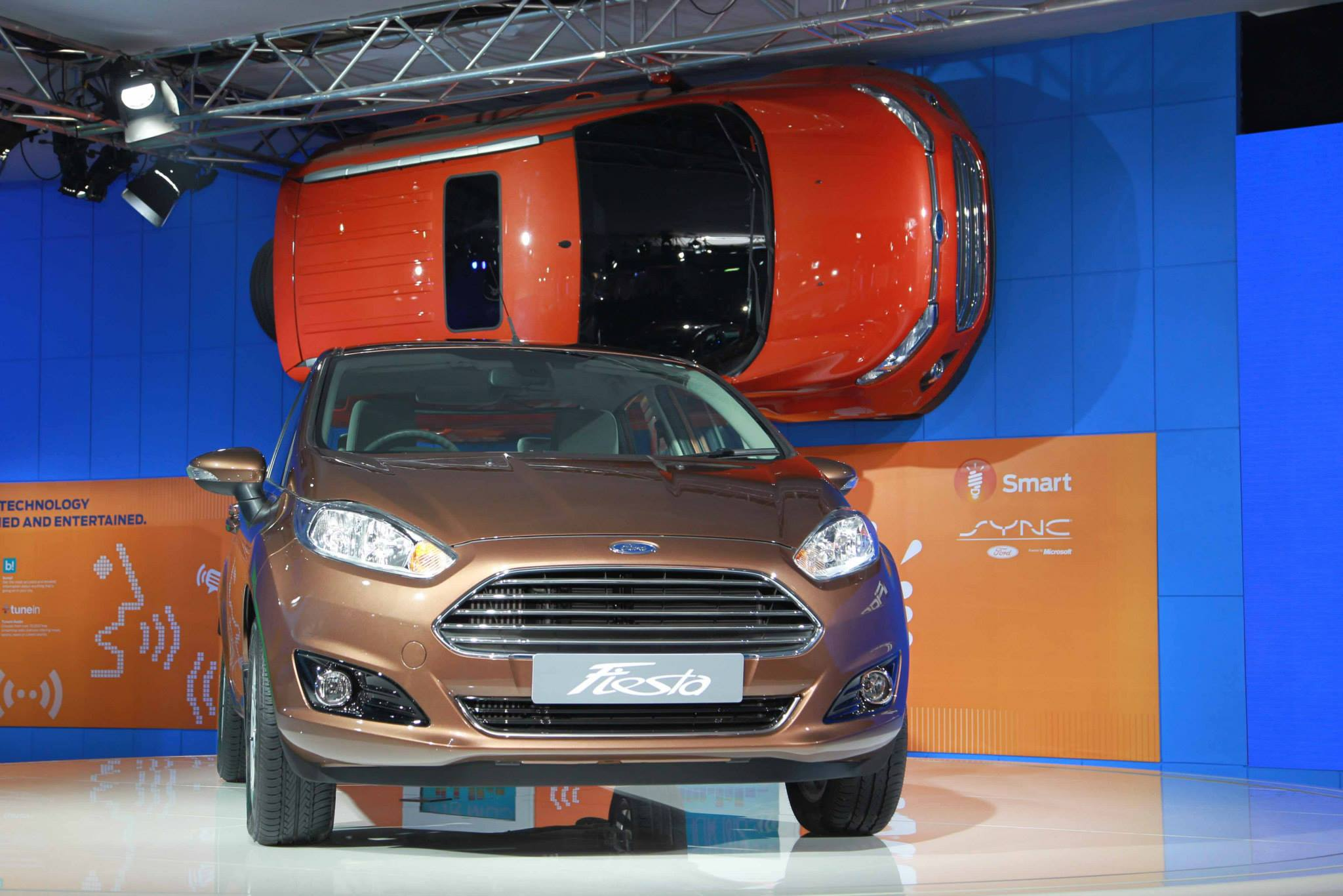 Ford EcoSport sunroof seen at Auto Expo 2014