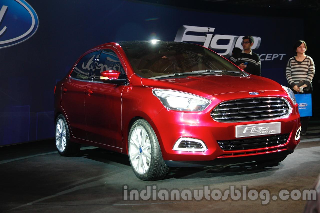 Ford Figo Concept Sedan Launch Images front 2