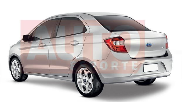 Ford Ka compact sedan rear three quarter rendering