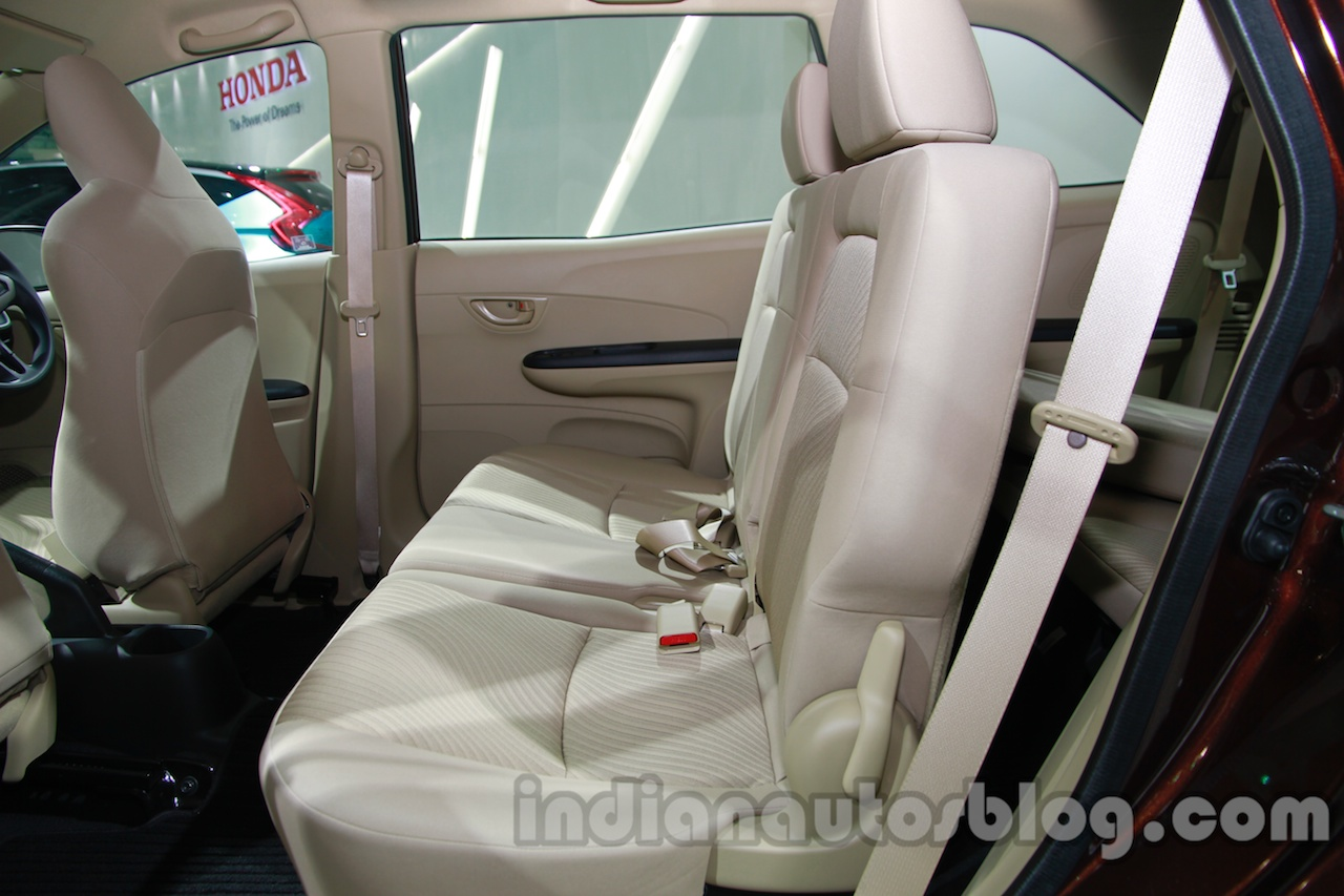 Honda Mobilio second row seat at Auto Expo 2014