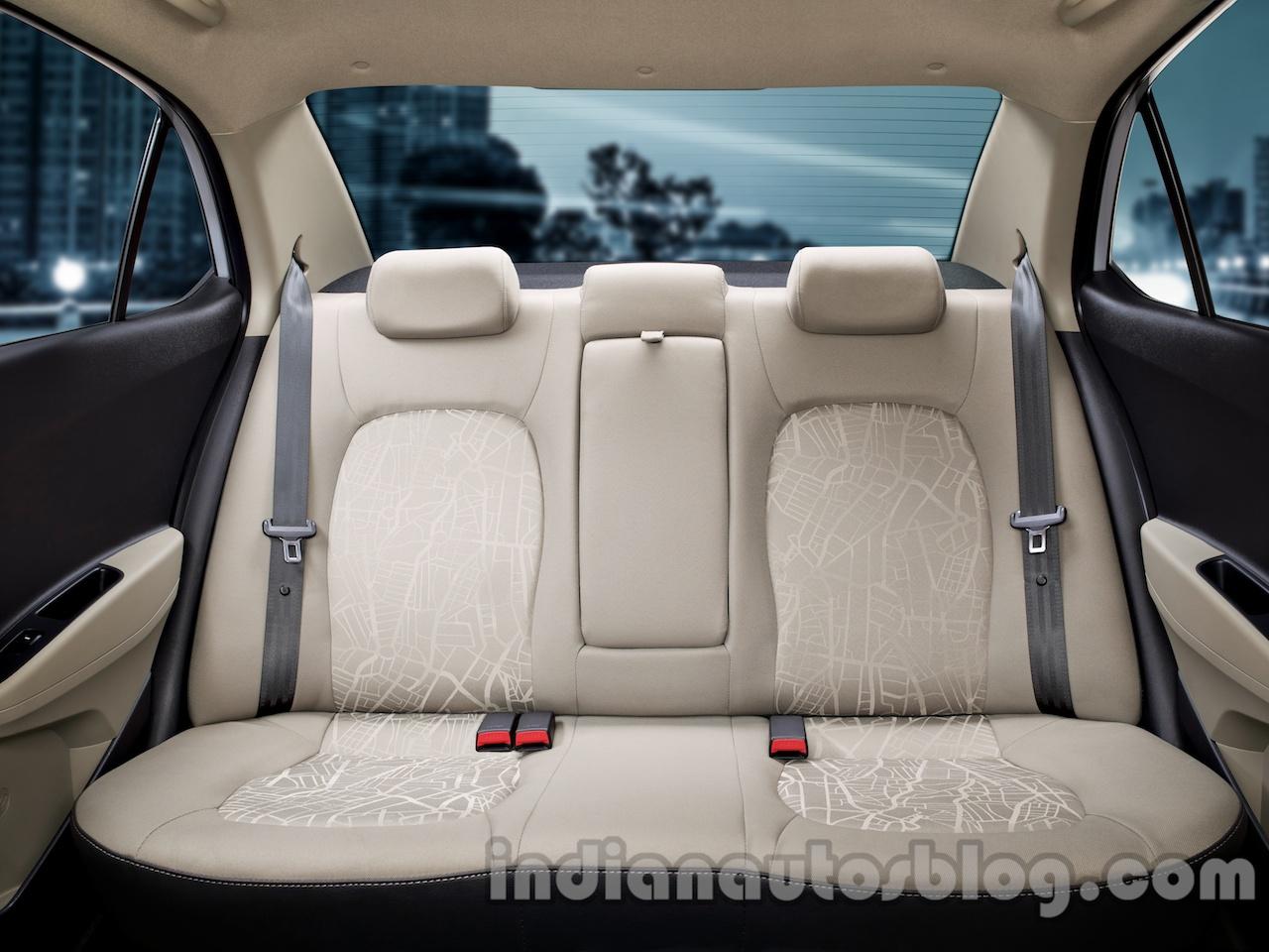 Hyundai Xcent rear seat