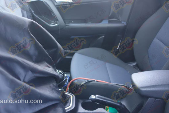 Hyundai ix25 interior spy shot