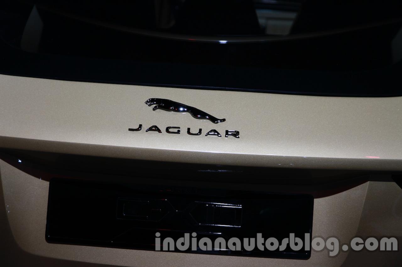 Jaguar C-X17 at 2014 Auto Expo badge