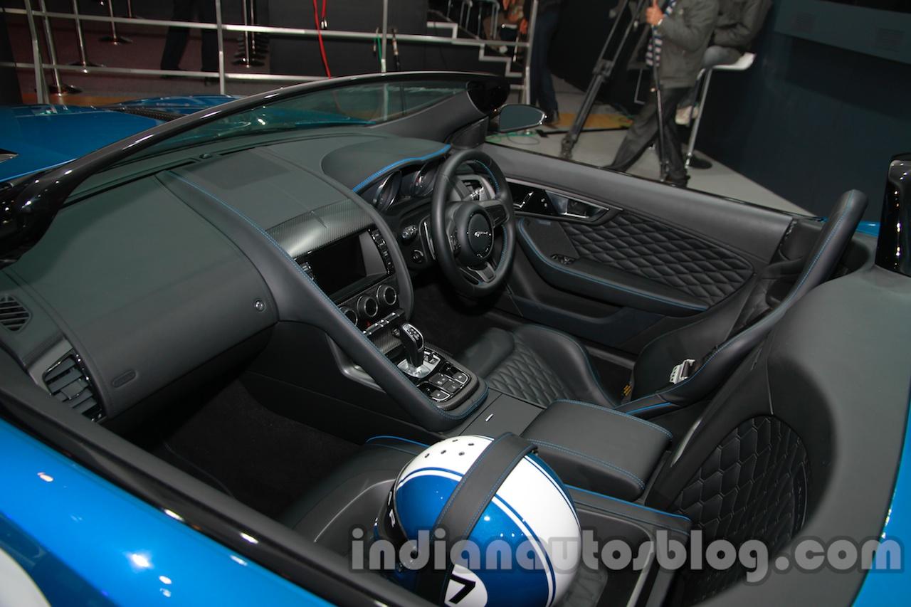 Jaguar F-Type Project 7 at Auto Expo 2014 interior