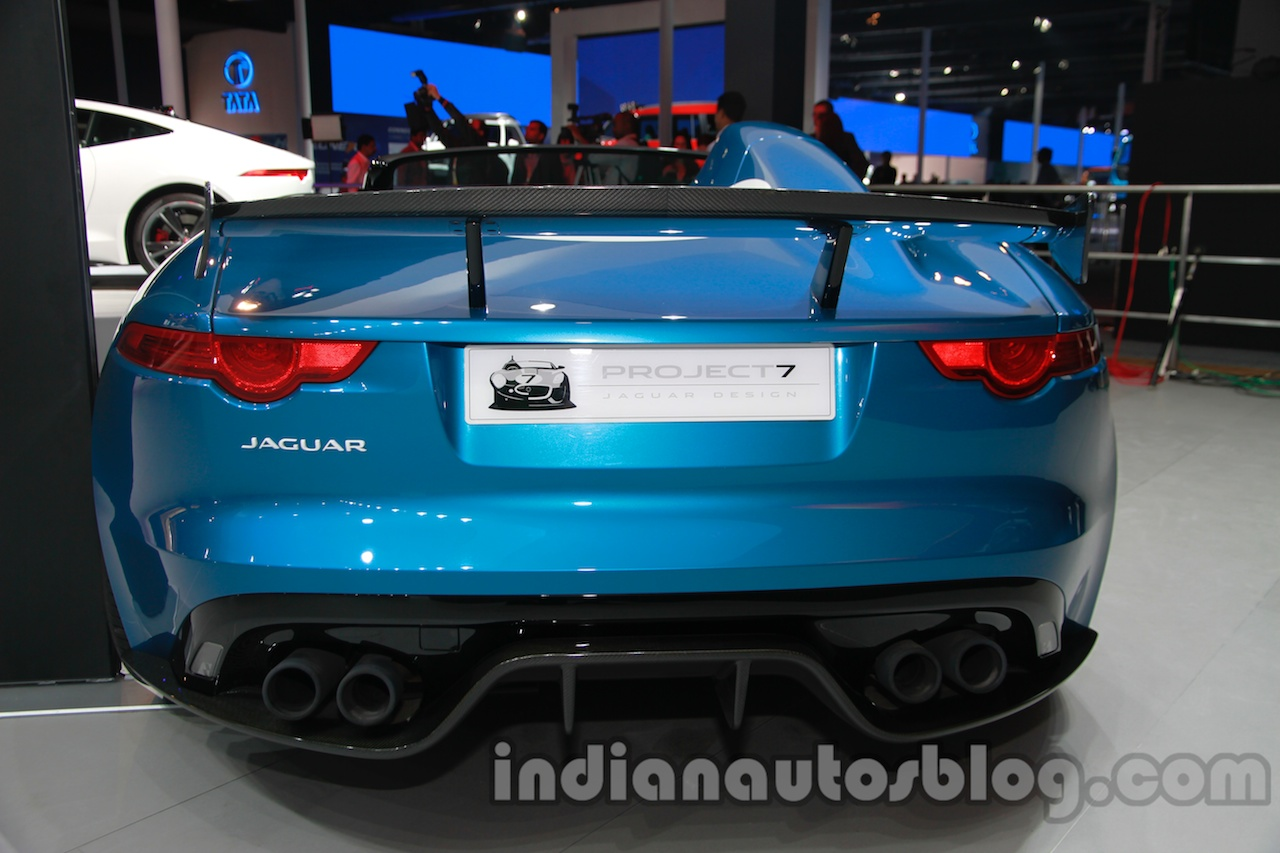 Jaguar F-Type Project 7 at Auto Expo 2014 rear 3