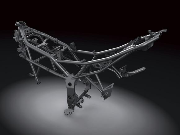 Kawasaki Ninja 250 RR Mono frame press shot