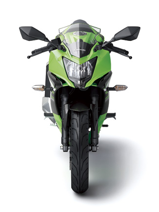 Kawasaki Ninja 250 RR Mono front profile press shot