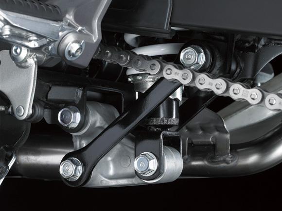 Kawasaki Ninja 250 RR Mono monoshock bottom detail press shot