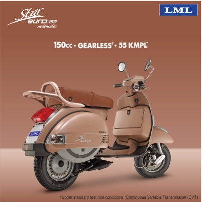 LML Star Euro 150cc press shot rear quarter