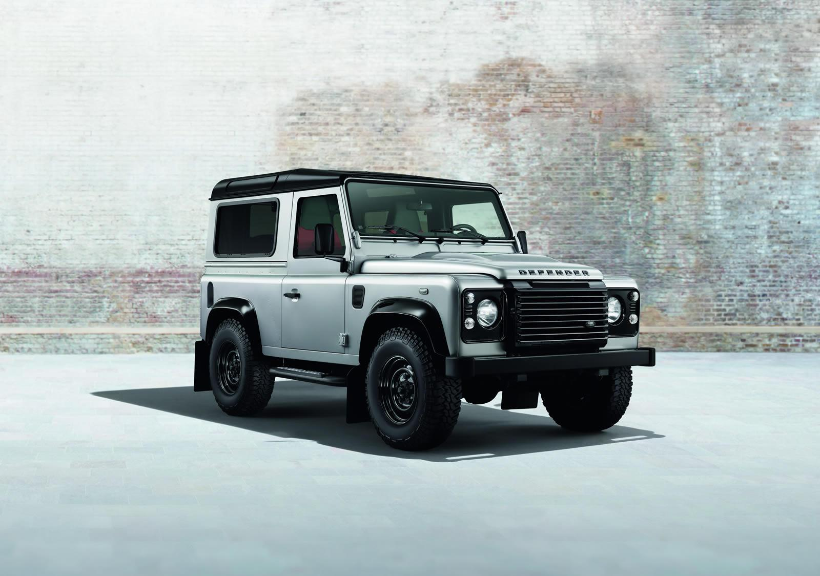 Land Rover Defender Black Pack front quarter view