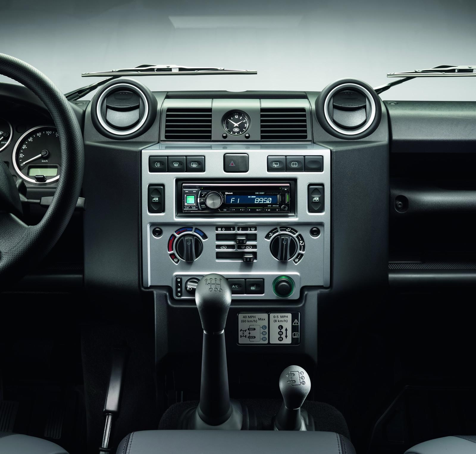 Land Rover Defender Silver Pack dashboard