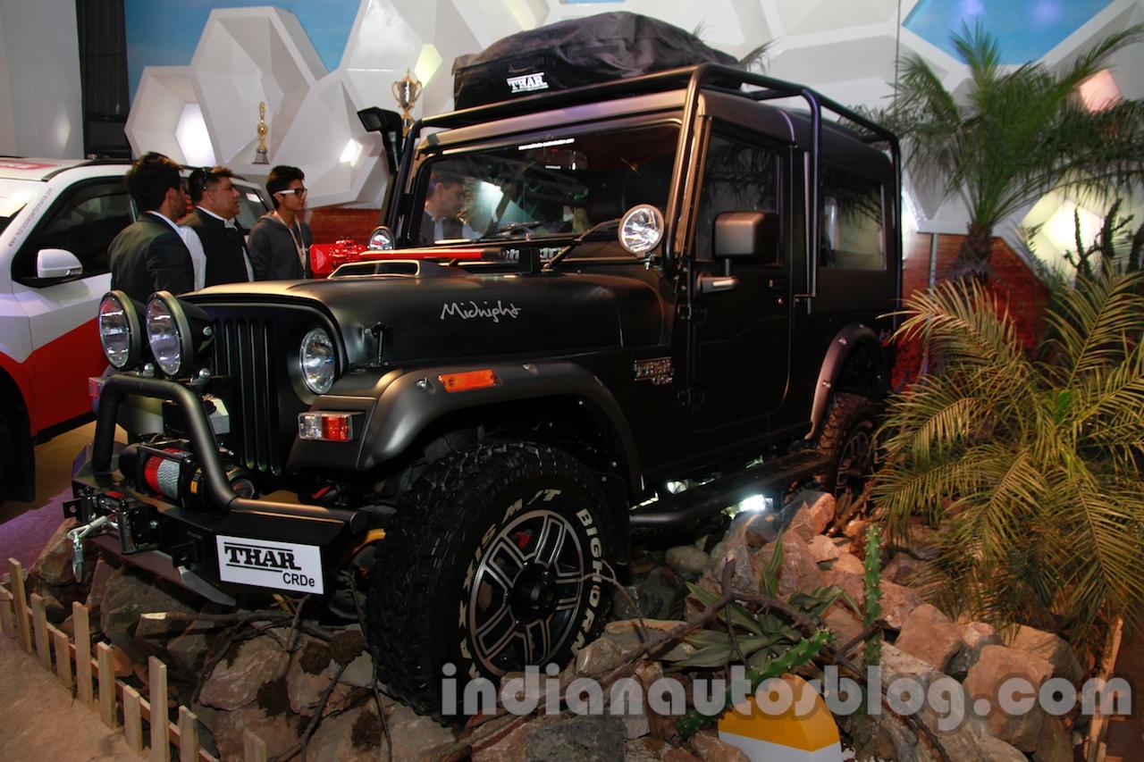 Mahindra Thar Midnight Edition Auto Expo front quarter