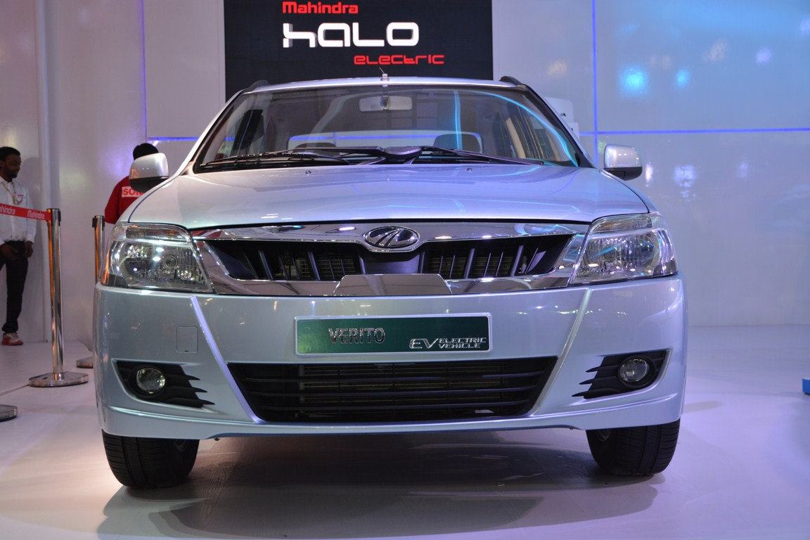 Mahindra Verito electric facelift from Auto Expo 2014 front fascia