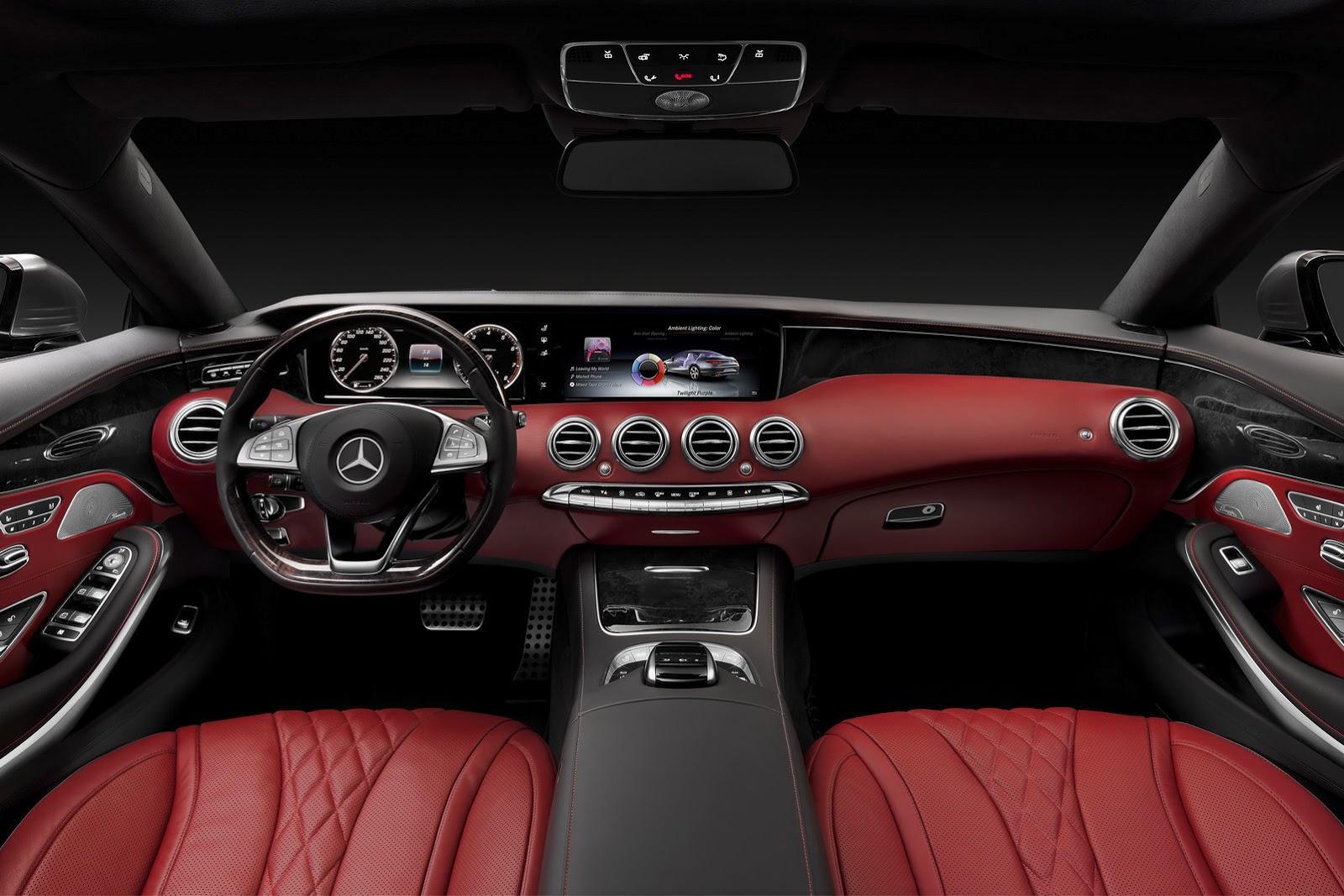 Mercedes-Benz S-class Coupe interior