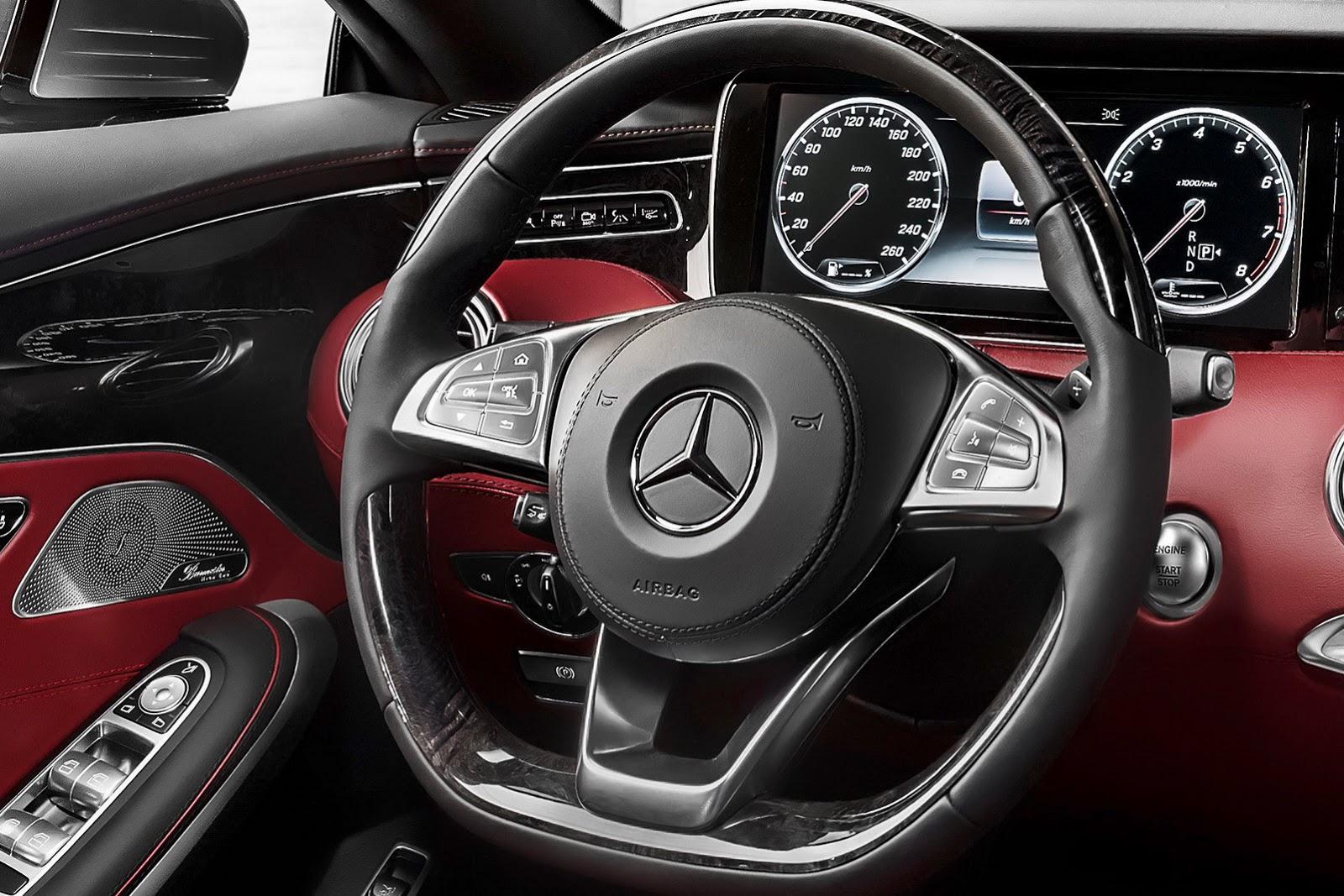 Mercedes-Benz S-class Coupe steering wheel