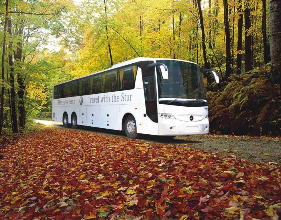 Mercedes-Benz bus press shot