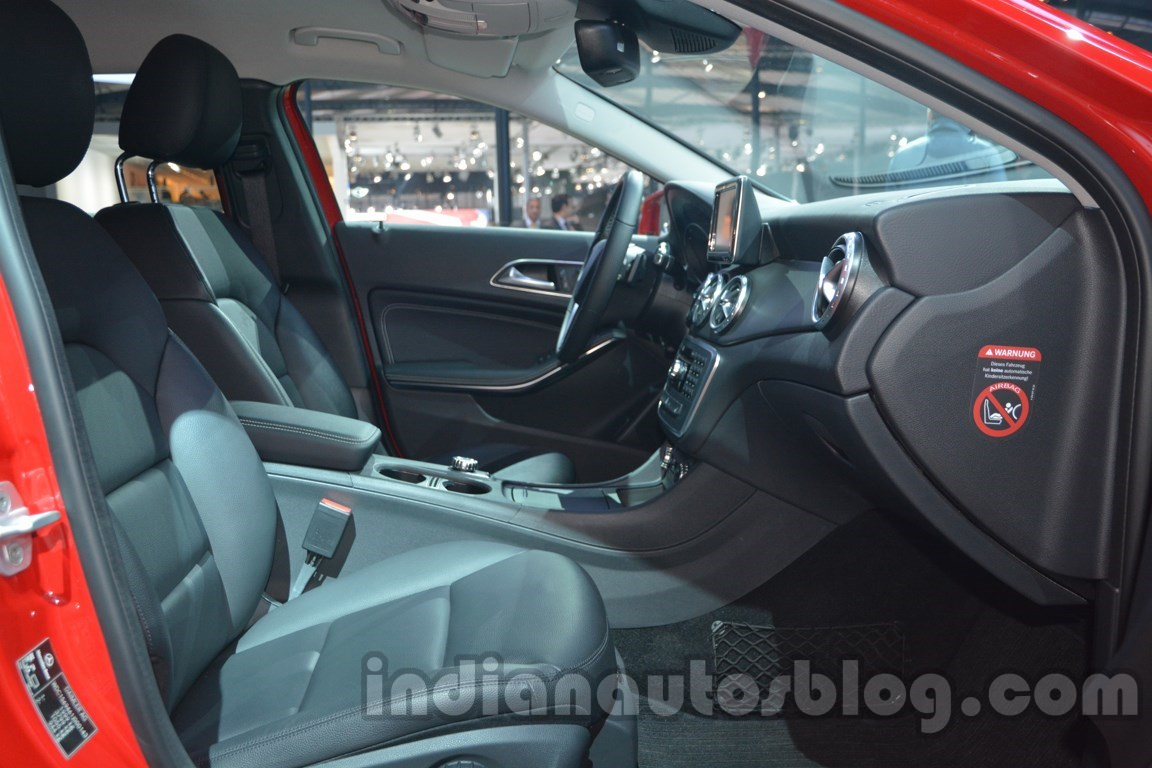 Mercedes GLA front seats at Auto Expo 2014