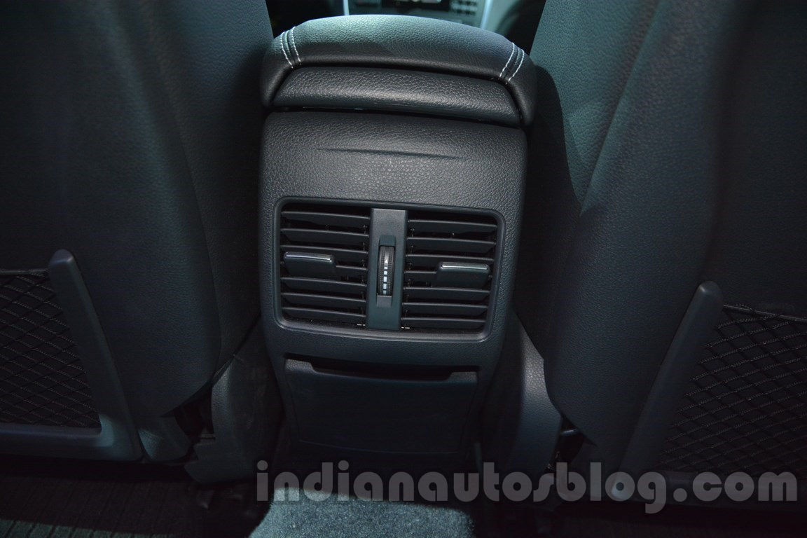 Mercedes GLA rear aircon vents at Auto Expo 2014