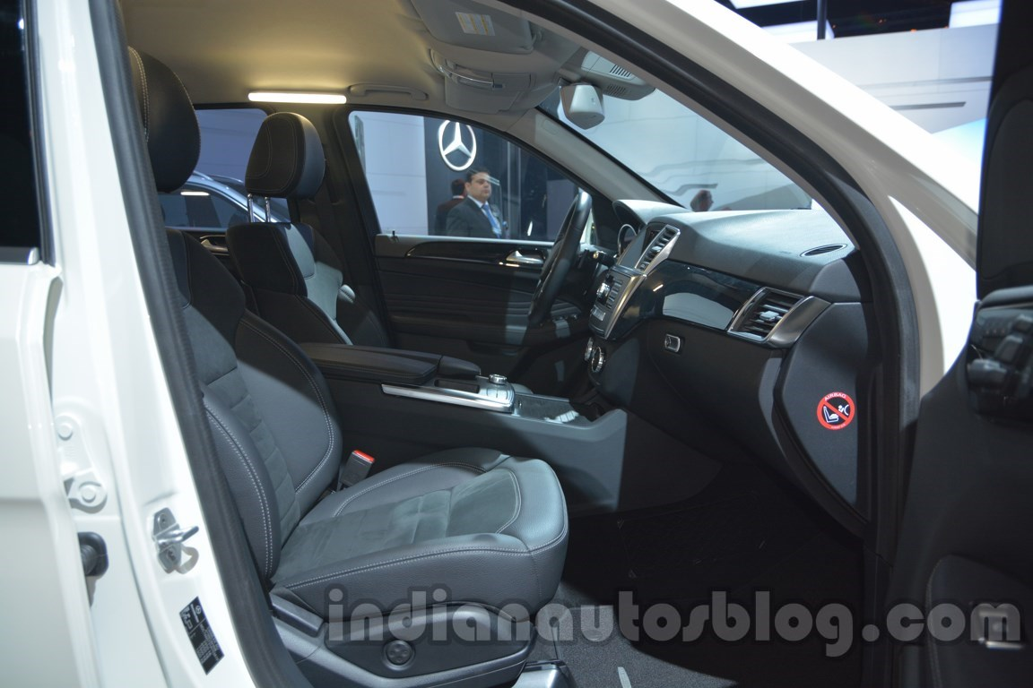Mercedes M-Guard front seats at Auto Expo 2014