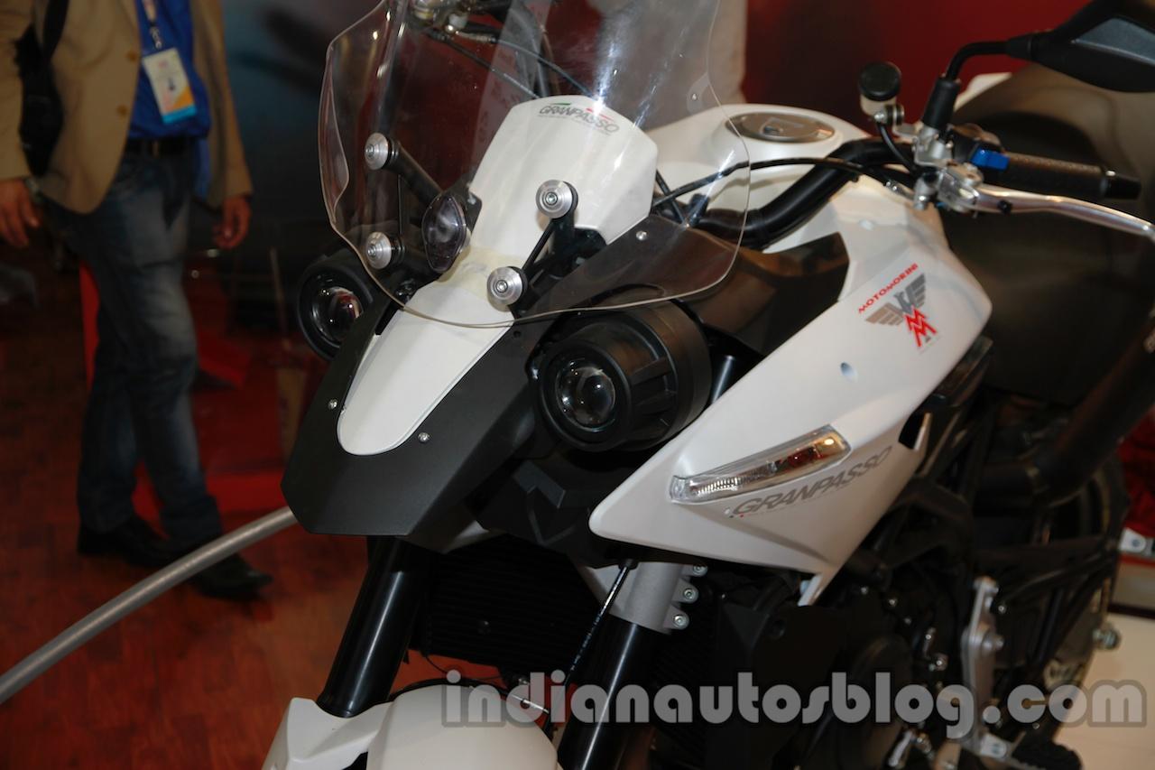Moto Morini Granpasso at Auto Expo 2014 front quarter