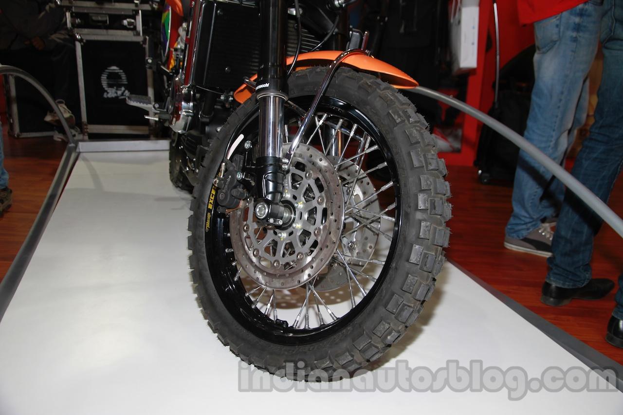 Moto Morini Scrambler Auto Expo 2014 wheel front