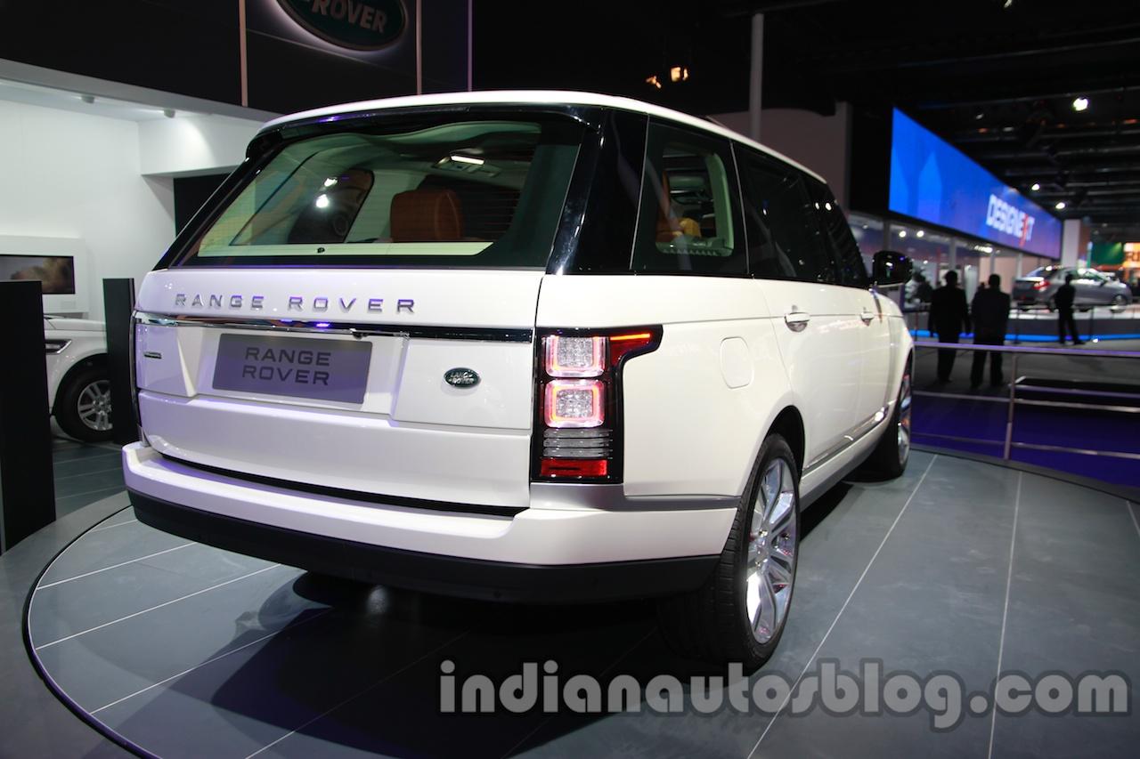 Range Rover L at Auto Expo 2014 rear quarter