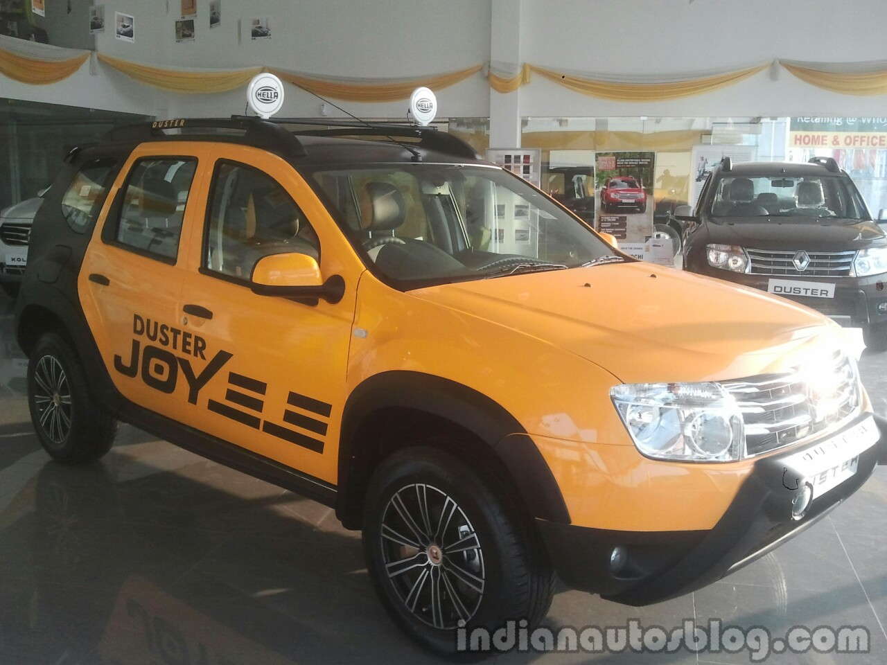 Renault Duster Joy Yellow Edition front three quarter
